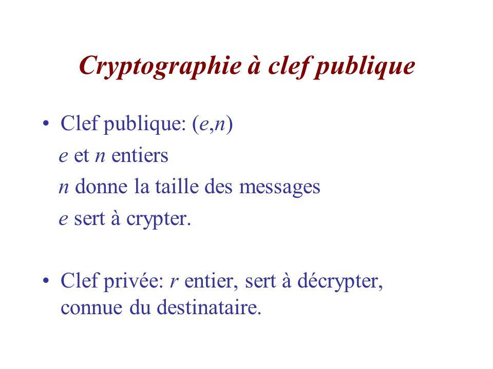 Cryptographie à clef publique