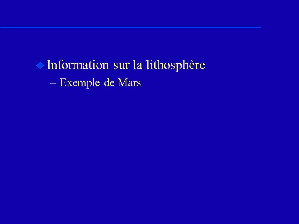 Information sur la lithosphère