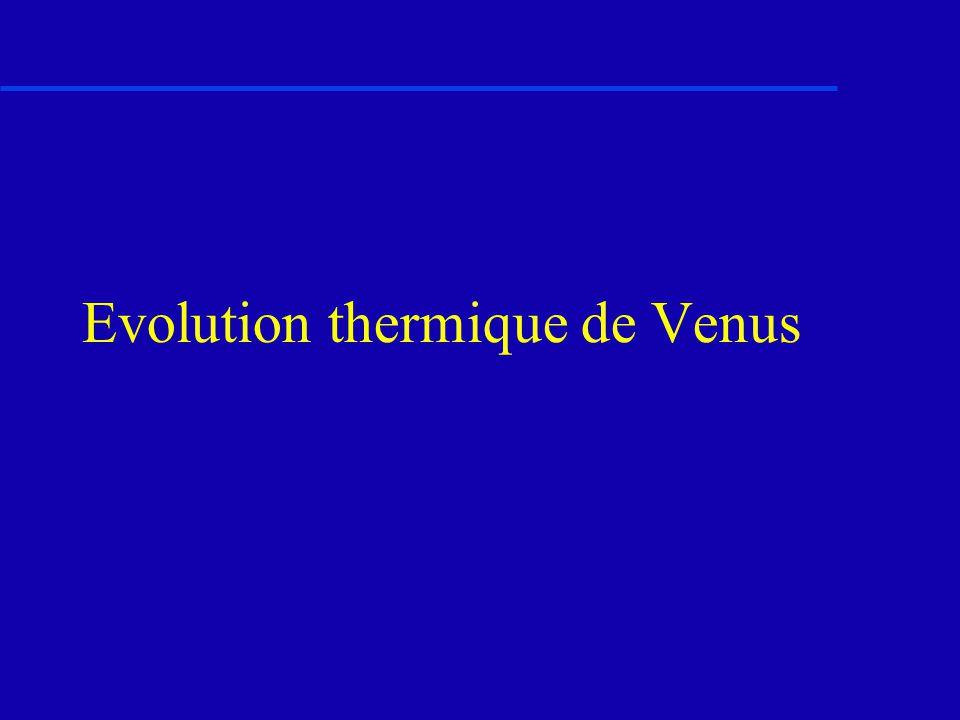 Evolution thermique de Venus
