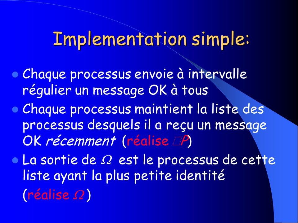 Implementation simple: