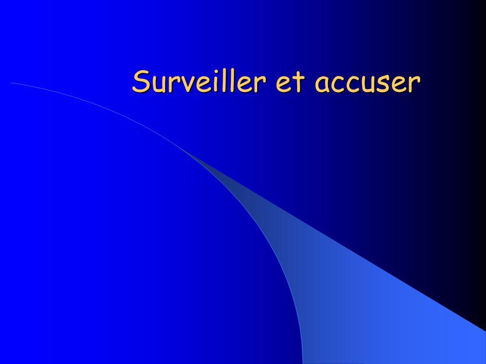 Surveiller et accuser
