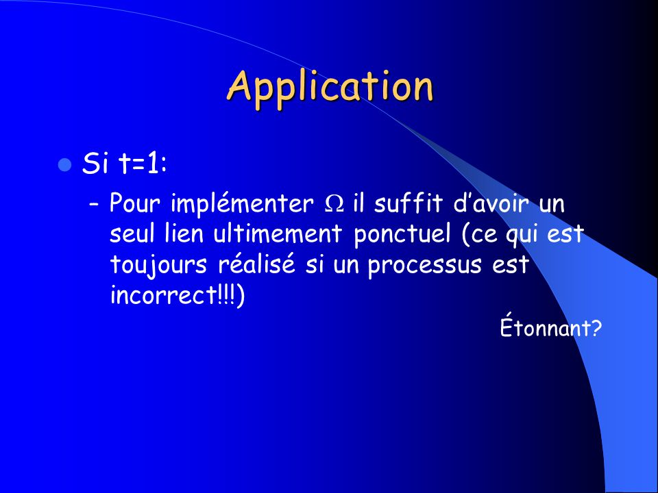 Application Si t=1: