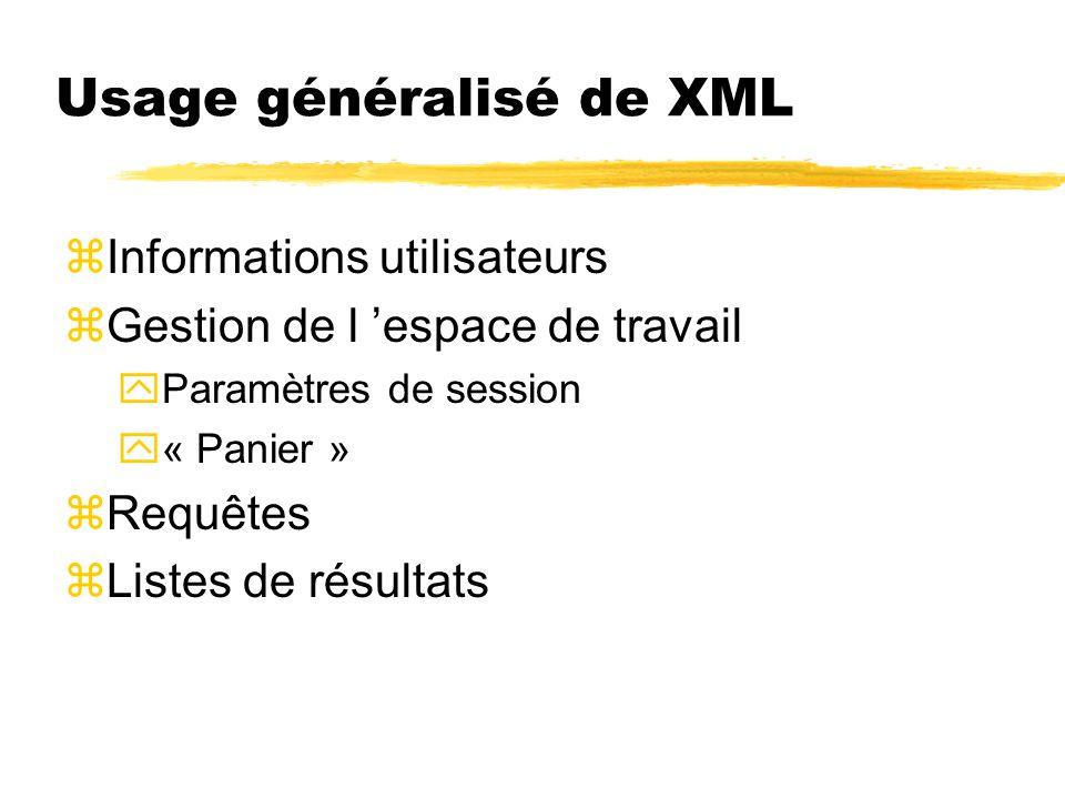 Usage généralisé de XML