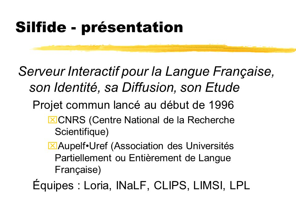 Silfide - présentation