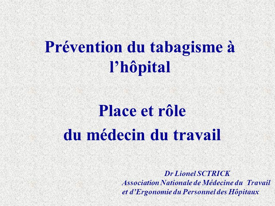 Prévention du tabagisme à l'hôpital