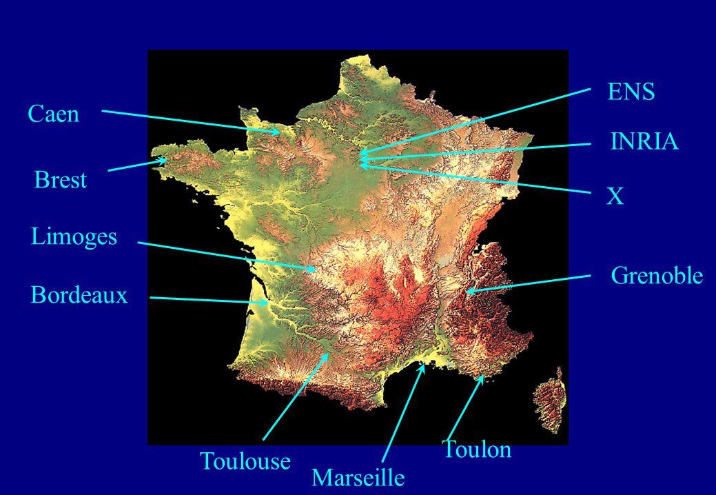 ENS Caen INRIA Brest X Limoges Grenoble Bordeaux Toulon Toulouse Marseille