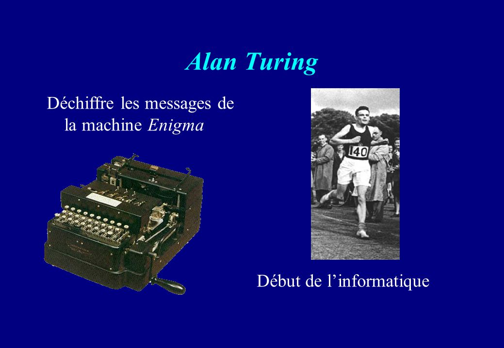 Alan Turing Déchiffre les messages de la machine Enigma
