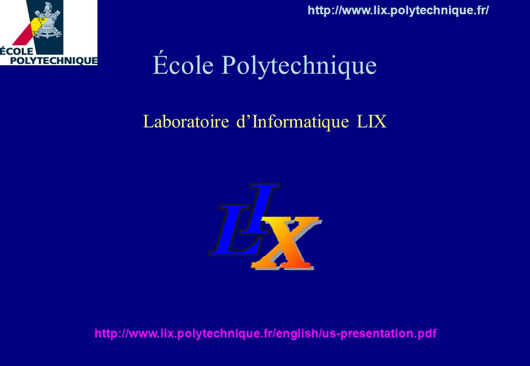 Laboratoire d'Informatique LIX