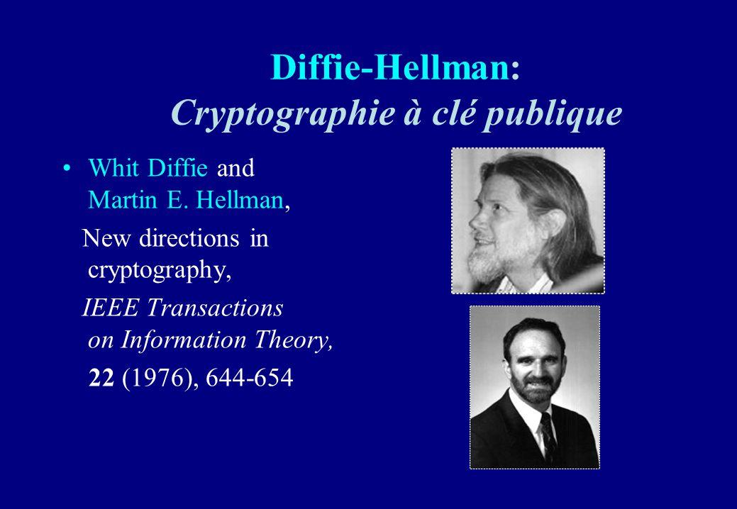 Diffie-Hellman: Cryptographie à clé publique