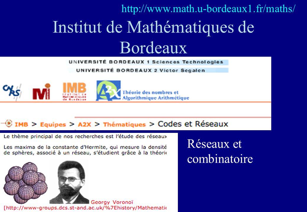 Institut de Mathématiques de Bordeaux