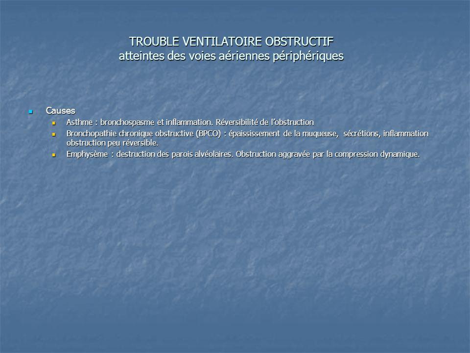 TROUBLE VENTILATOIRE OBSTRUCTIF atteintes des voies aériennes périphériques