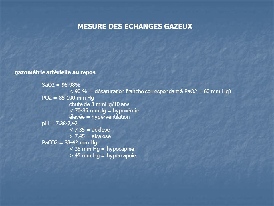 MESURE DES ECHANGES GAZEUX