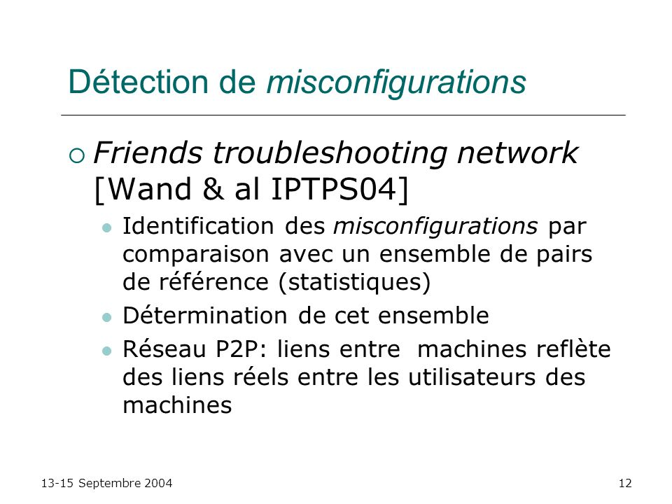 Détection de misconfigurations