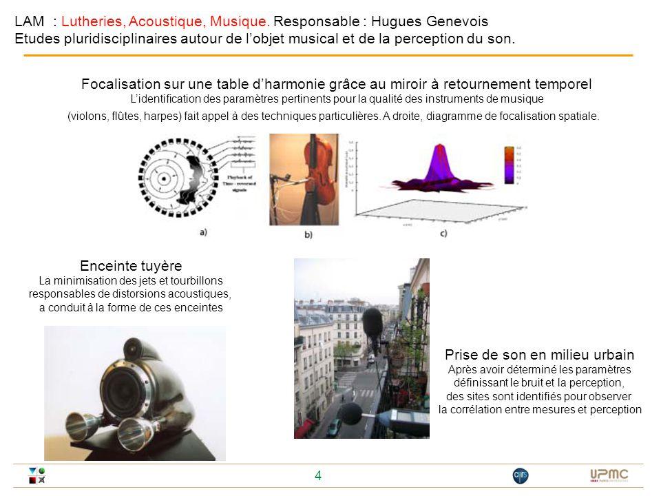 LAM : Lutheries, Acoustique, Musique. Responsable : Hugues Genevois