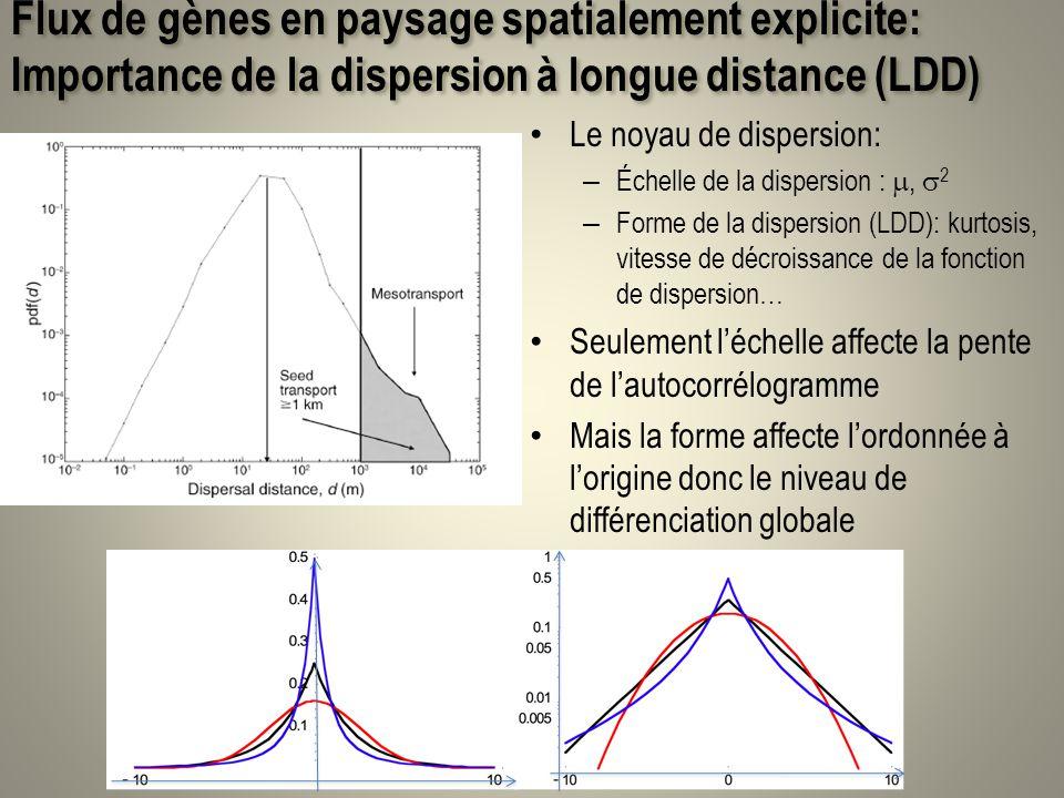 Flux de gènes en paysage spatialement explicite: Importance de la dispersion à longue distance (LDD)