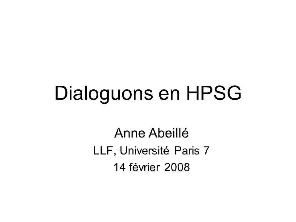 Anne Abeillé LLF, Université Paris 7 14 février 2008