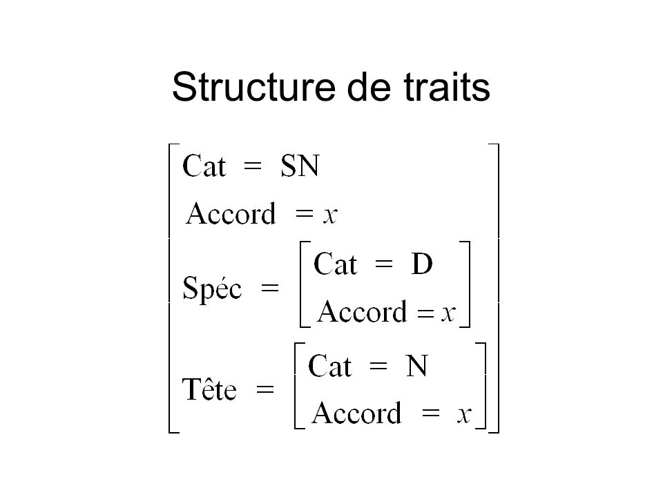 Structure de traits