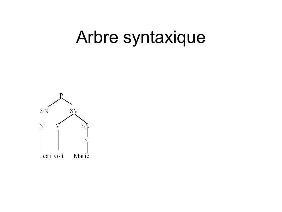 Arbre syntaxique