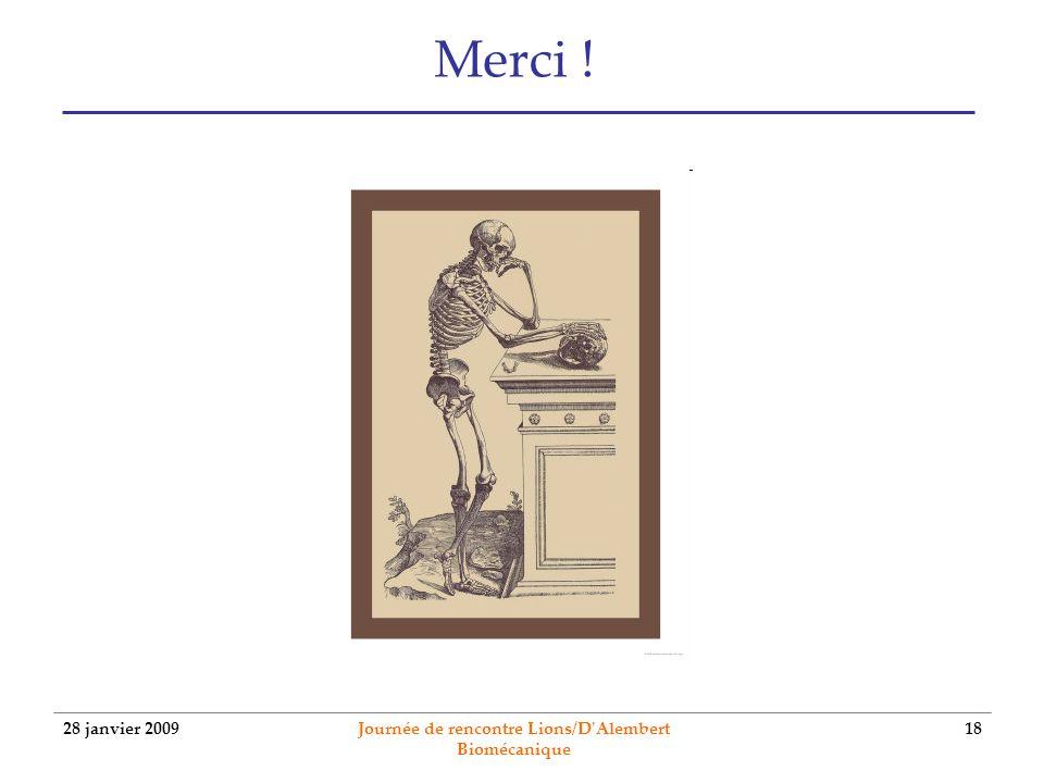 Journée de rencontre Lions/D Alembert Biomécanique