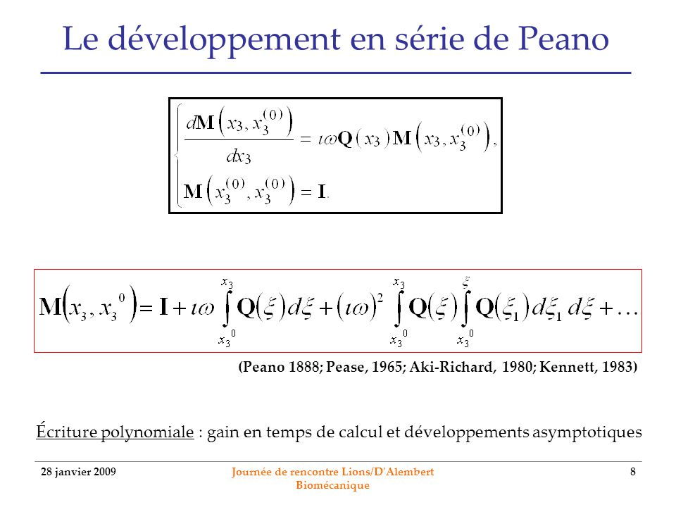 Le développement en série de Peano