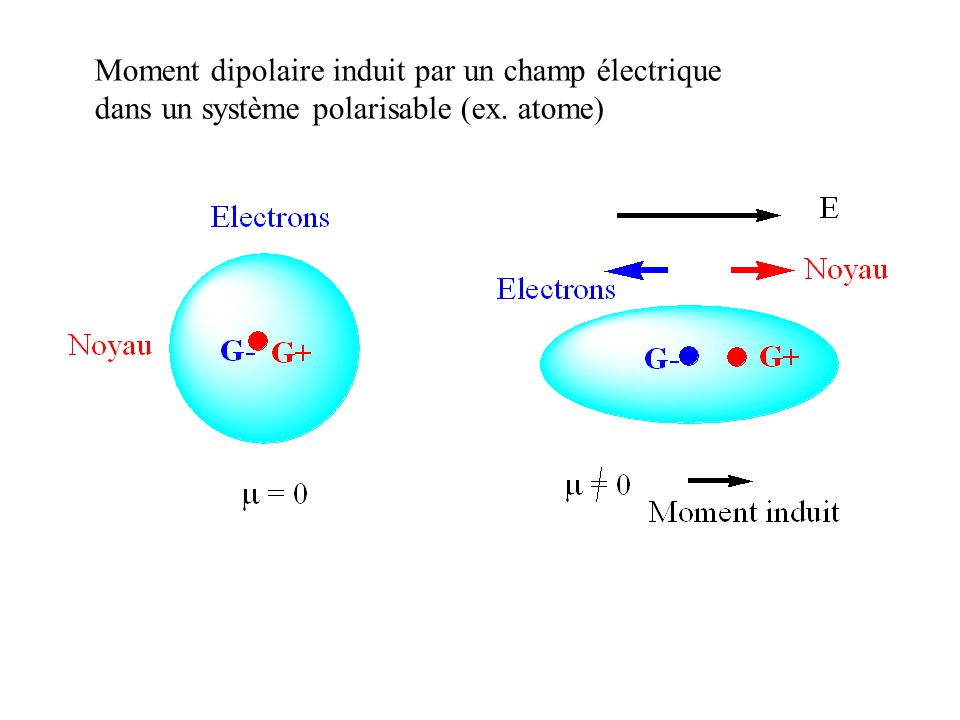 Moment dipolaire induit par un champ électrique