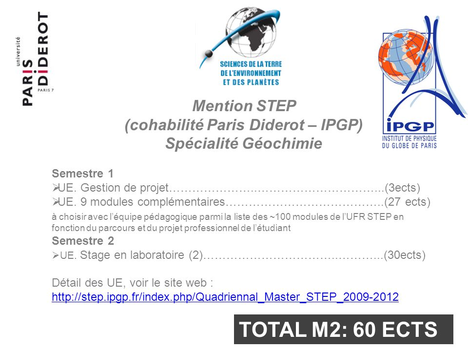 (cohabilité Paris Diderot – IPGP)
