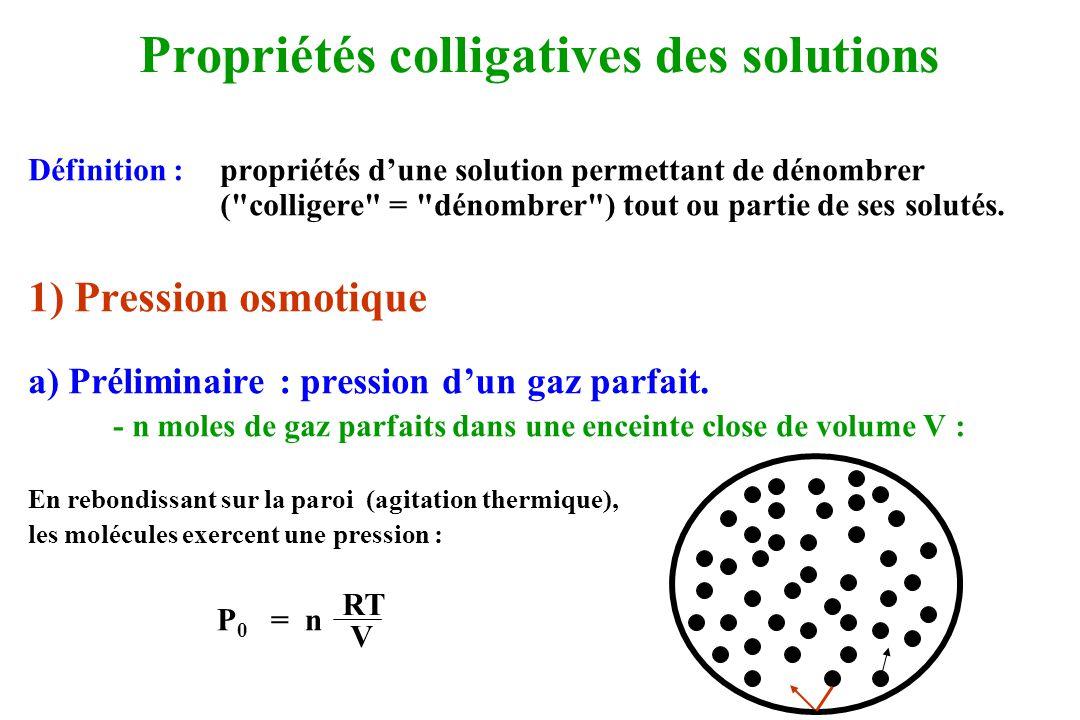 Propriétés colligatives des solutions