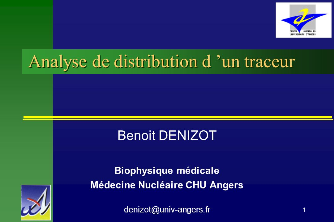 Analyse de distribution d 'un traceur
