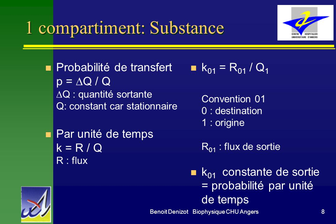 1 compartiment: Substance