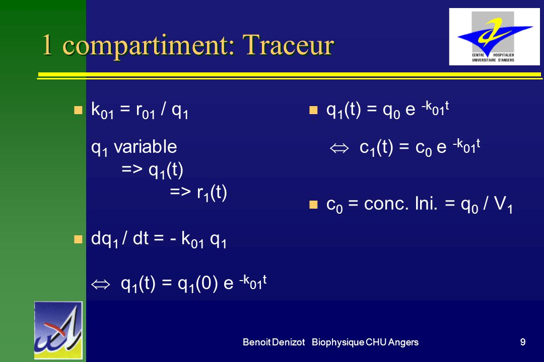 1 compartiment: Traceur