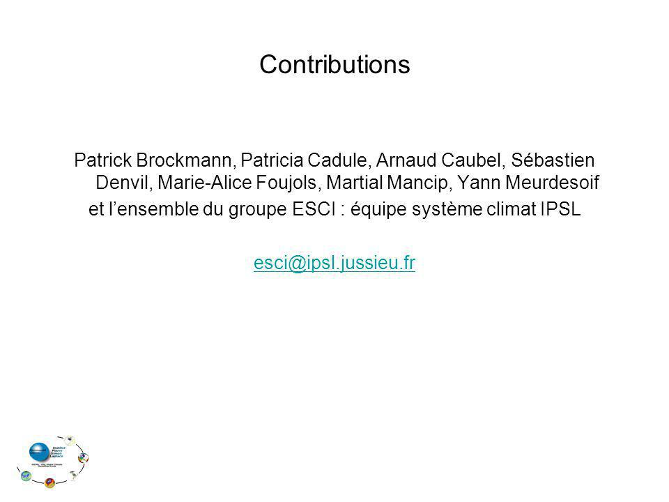 et l'ensemble du groupe ESCI : équipe système climat IPSL