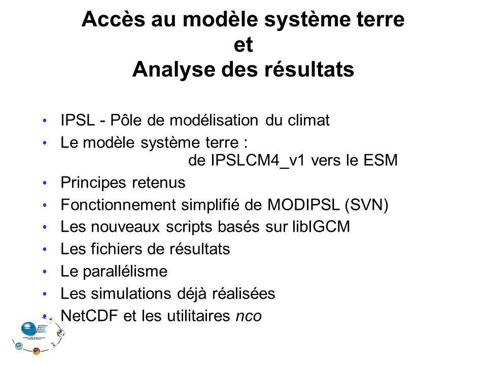 Accès au modèle système terre et Analyse des résultats