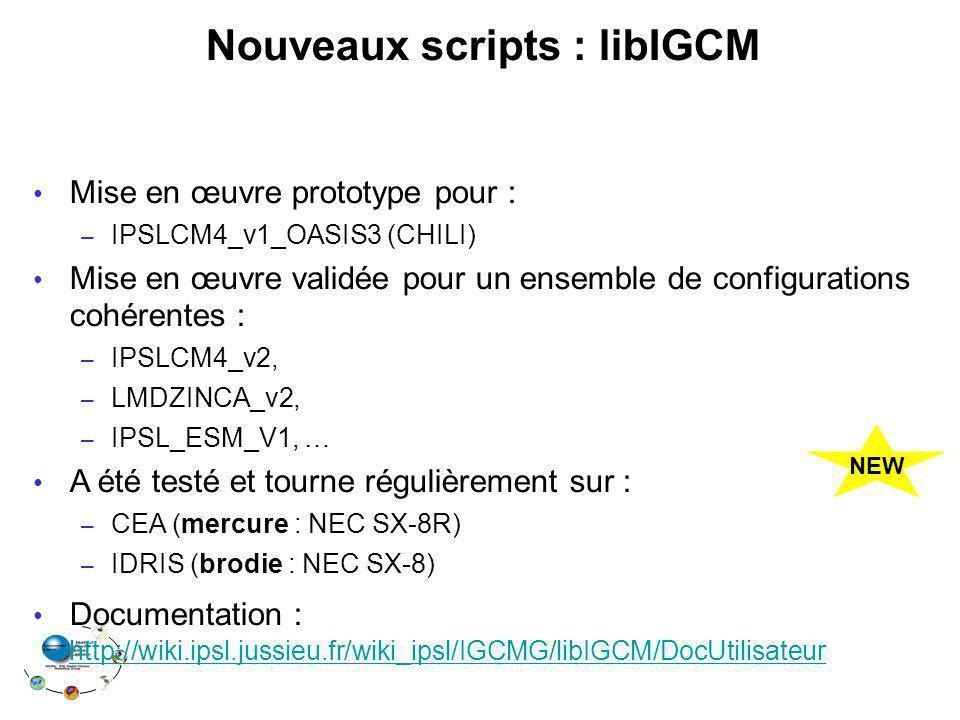 Nouveaux scripts : libIGCM