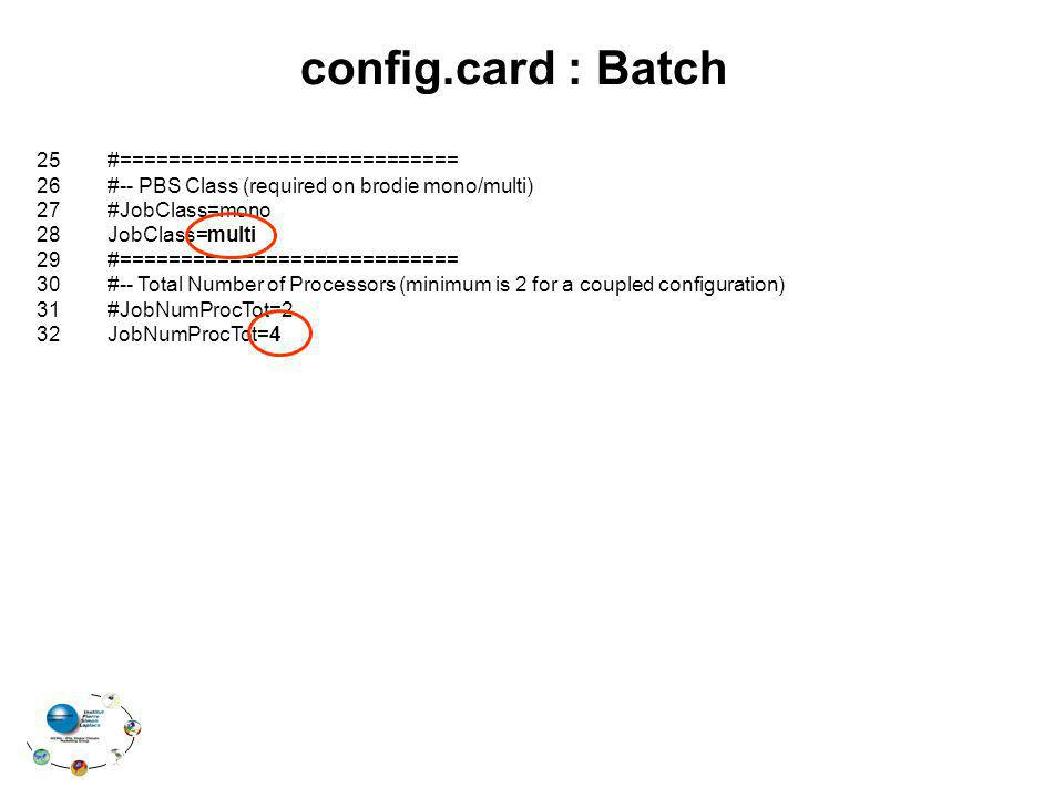 config.card : Batch 25 #============================