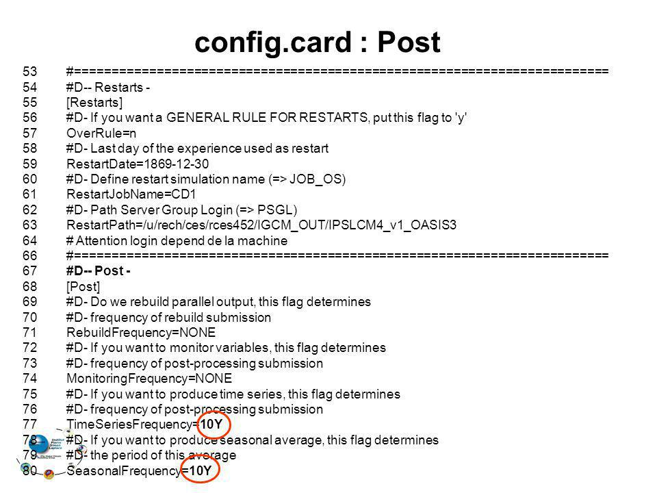 config.card : Post 53 #======================================================================== 54 #D-- Restarts -