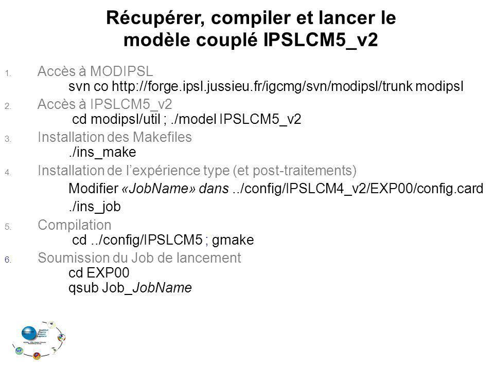 Récupérer, compiler et lancer le modèle couplé IPSLCM5_v2