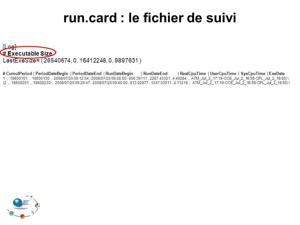 run.card : le fichier de suivi