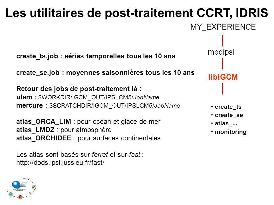 Les utilitaires de post-traitement CCRT, IDRIS