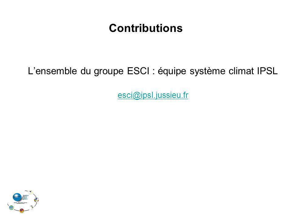 L'ensemble du groupe ESCI : équipe système climat IPSL