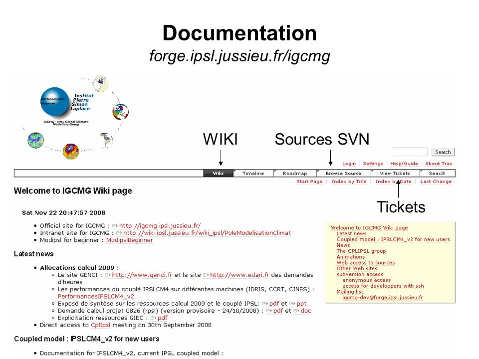 Documentation forge.ipsl.jussieu.fr/igcmg