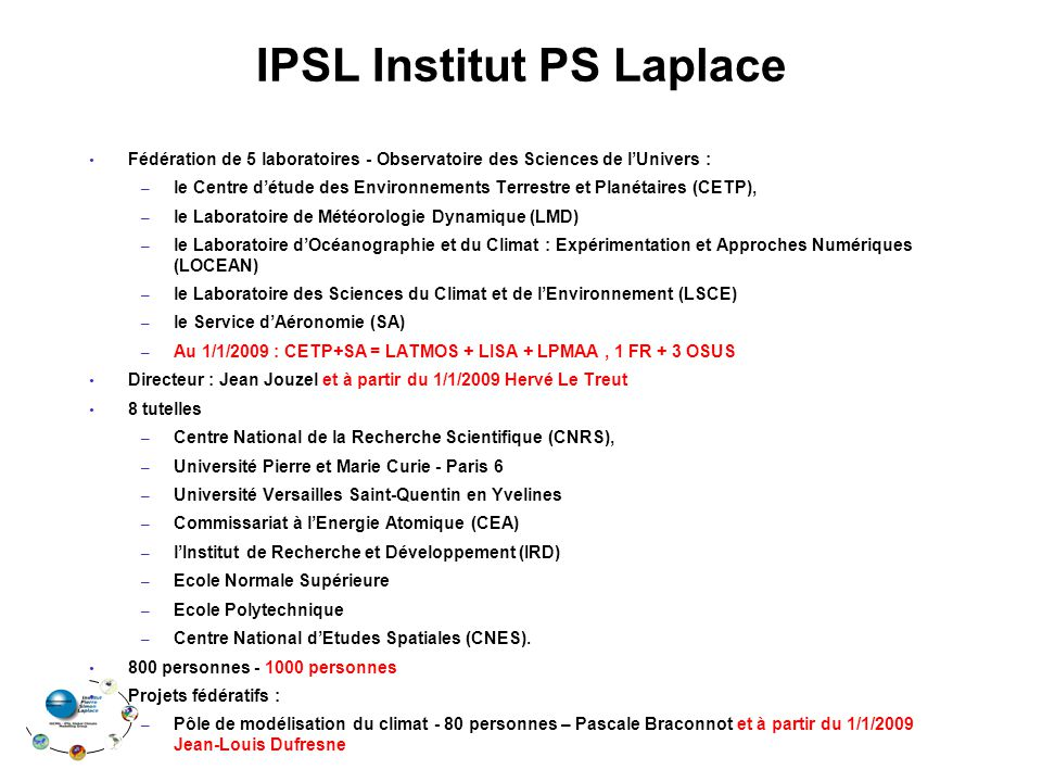 IPSL Institut PS Laplace