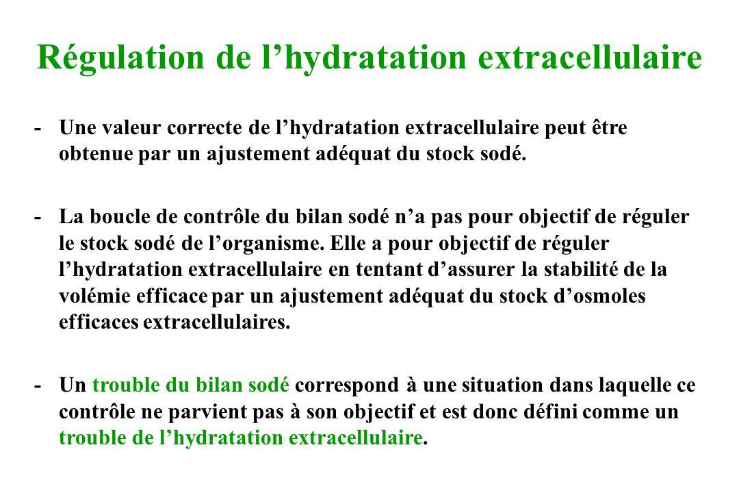 Régulation de l'hydratation extracellulaire
