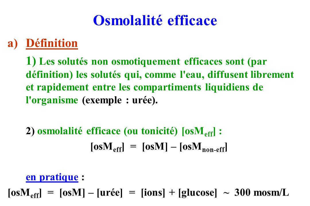 Osmolalité efficace Définition
