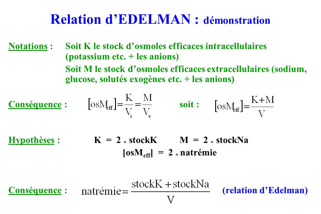 Relation d'EDELMAN : démonstration