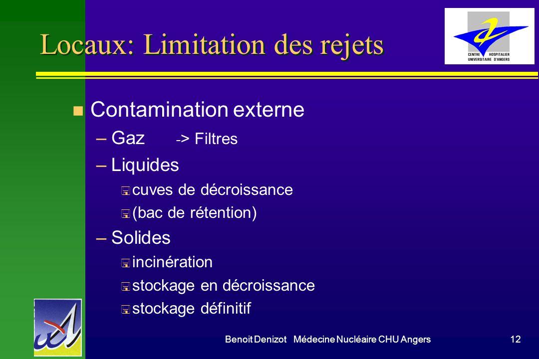 Locaux: Limitation des rejets