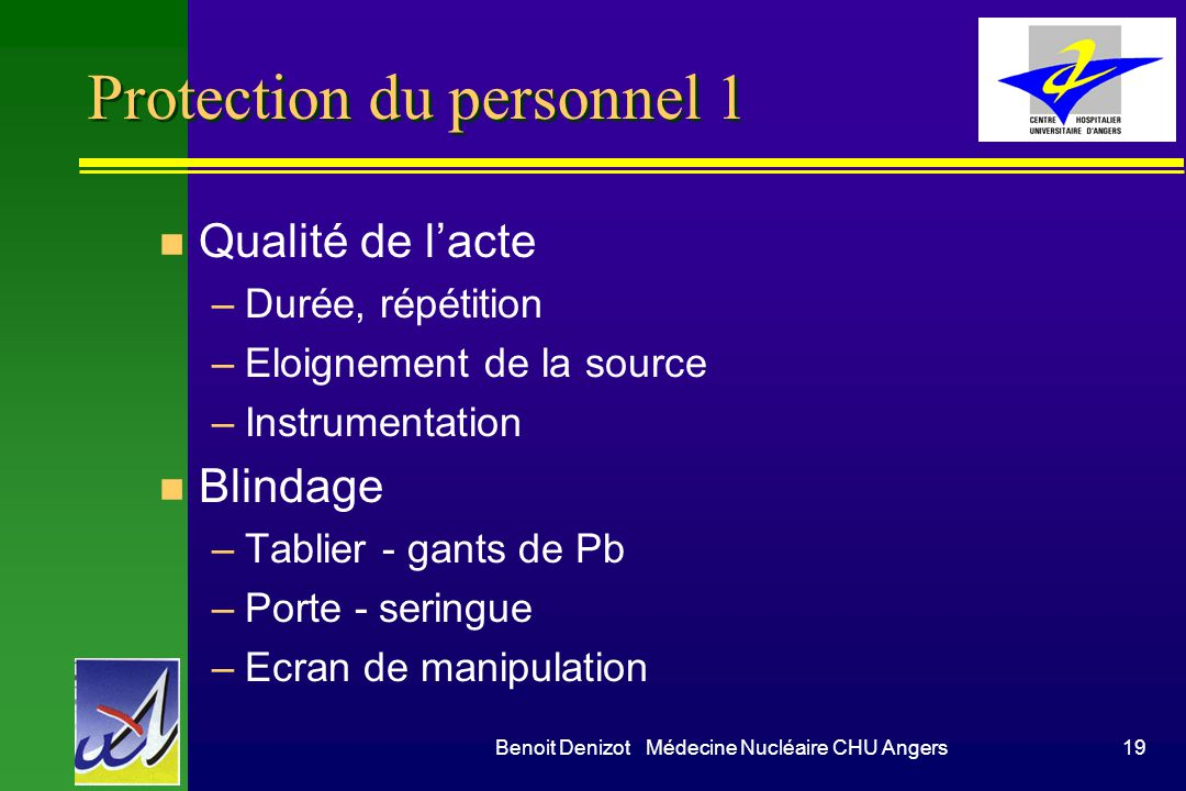 Protection du personnel 1
