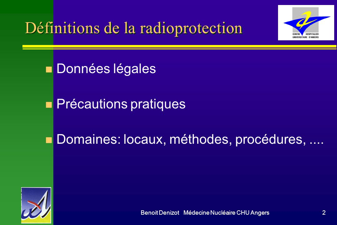 Définitions de la radioprotection