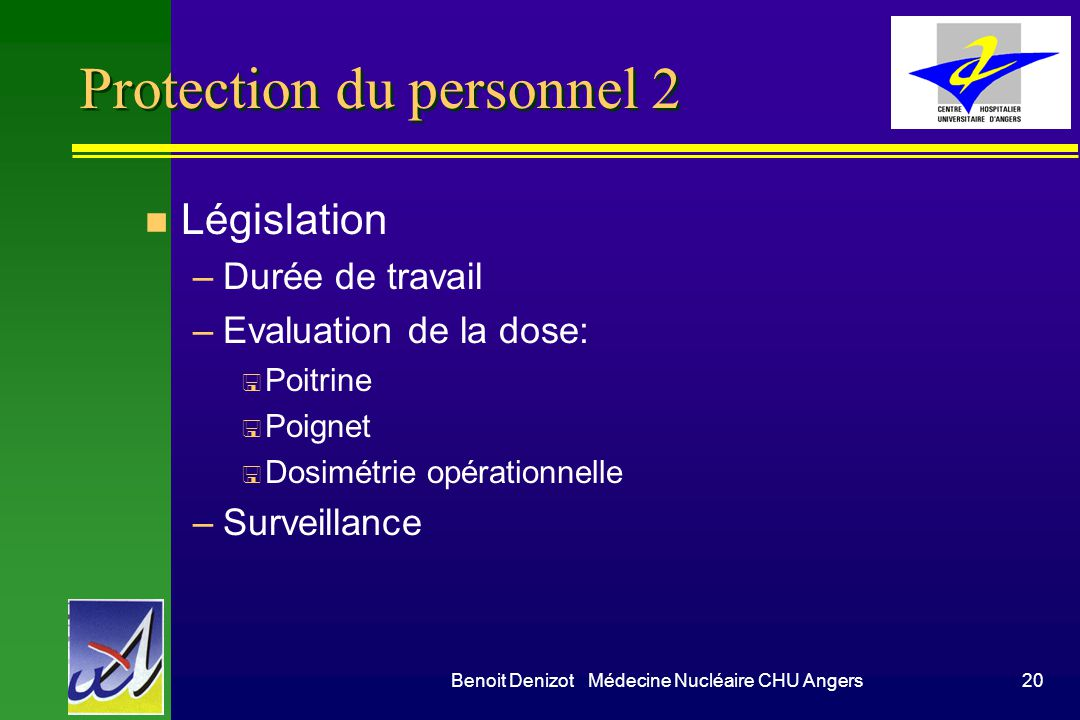 Protection du personnel 2