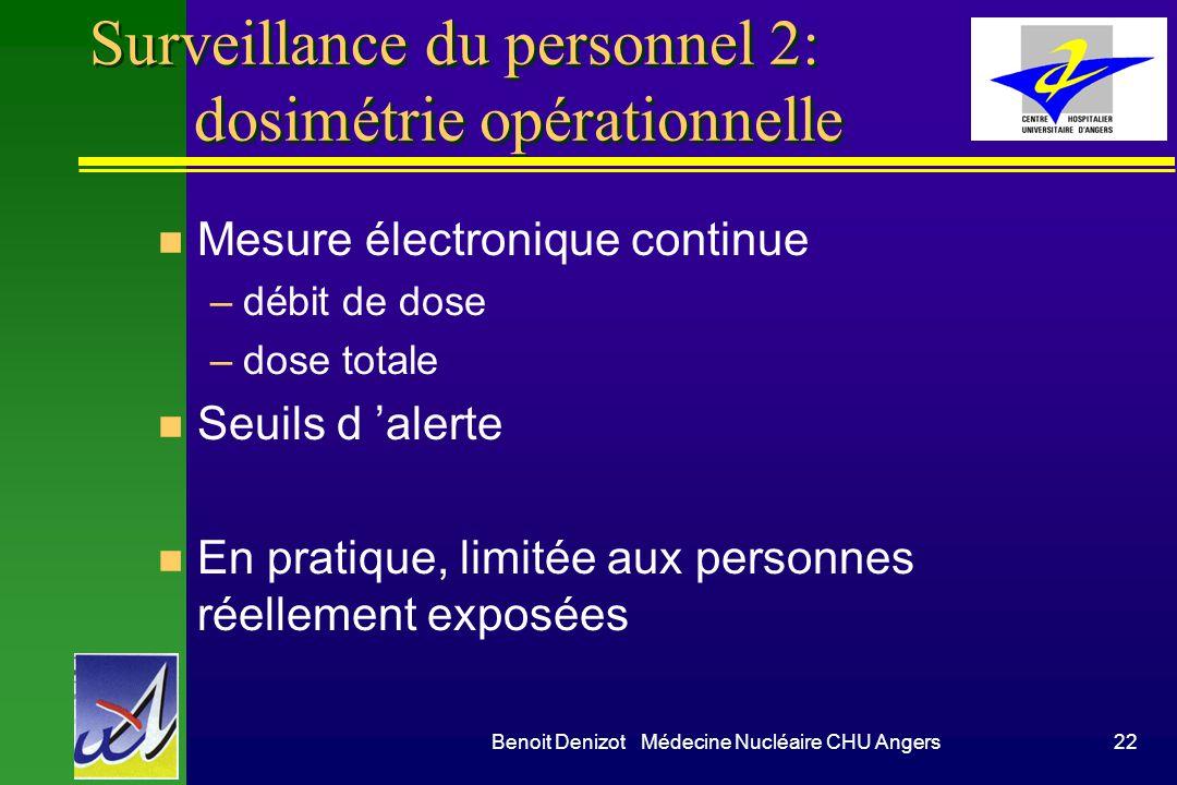 Surveillance du personnel 2: dosimétrie opérationnelle