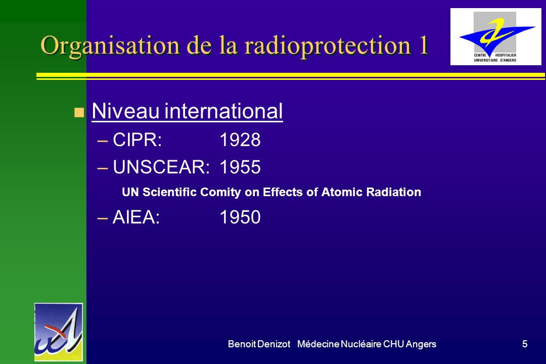 Organisation de la radioprotection 1